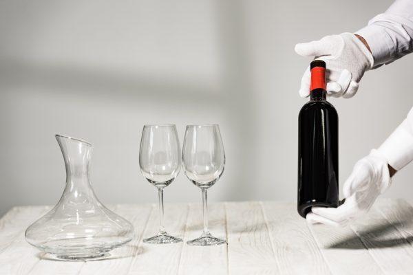 Red Wine Sommelier Display